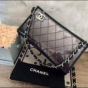 Auth. Chanel RARE Ombre Smoke PVC Clutch Bag